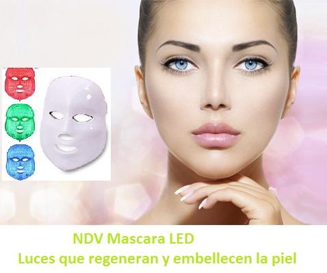 NDV Mascara LED Luces que Regeneran y Embellecen la piel (Terapia Fotodinámica con LED atérmica)