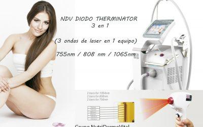 Laser de Diodo Therminator  3 en 1  (Tres longitud de Onda en 1 Equipo) 755nm/808nm/1064nm diode laser