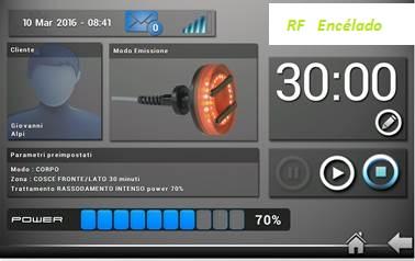 RF Encélado (Capacitiva + Resistiva)