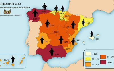 España 'ha engordado' durante la recesión económica: seis de cada diez de sus ciudadanos pesan más de lo que deberían, dos de ellos son obesos
