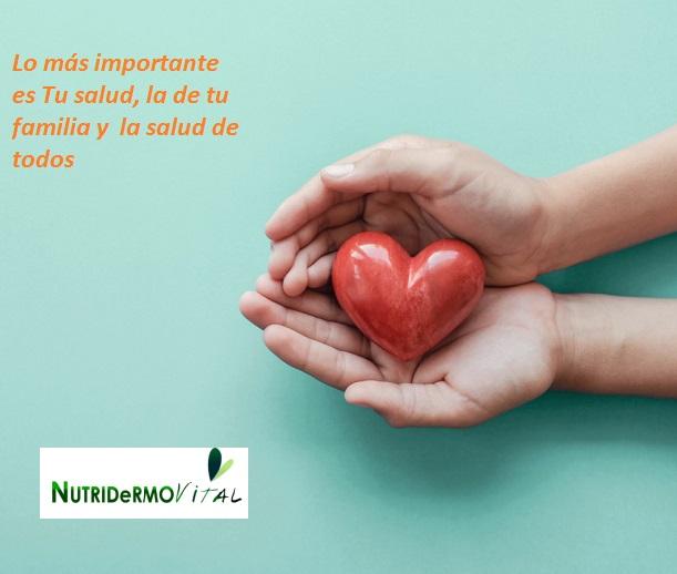Lo más importante es Tu salud, la de tu familia y la salud de todos